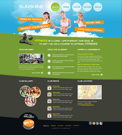 Fitness Club - HTML template