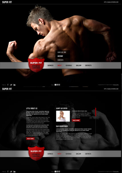 Fitness Club - HTML5 templates