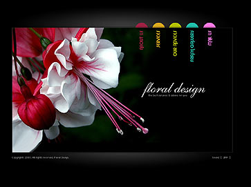 Floral design - Flash template