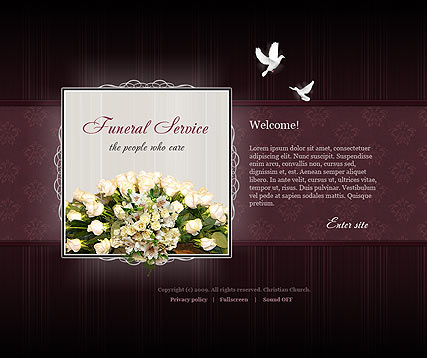 Funeral Service - Easy flash templates