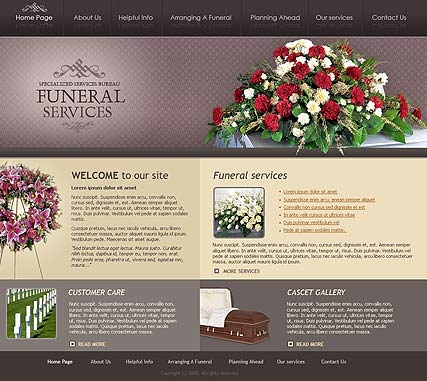 Funeral services - Website template