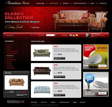 Furniture Store - osCommerce