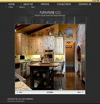 Furniture co. - Flash template
