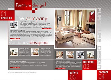 Furniture Design Templates interior design - website templates