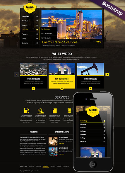 Gas and Oil - HTML template