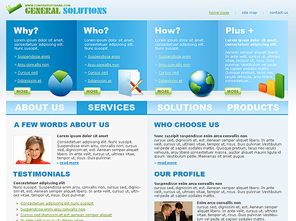 General Solutions - HTML template