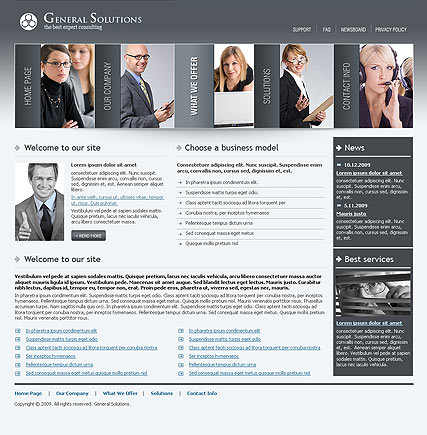 General solutions - Website template