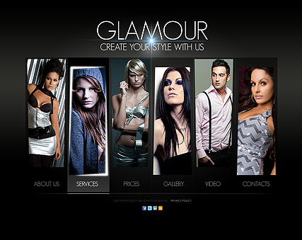 Glamour Fashion - HTML5 templates