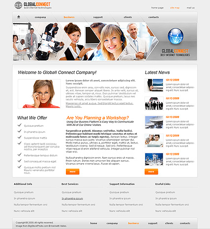 Global Connect - Website template