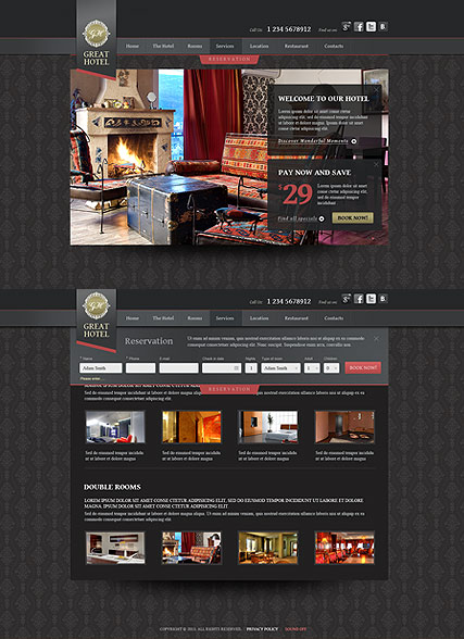 Great Hotel - HTML5 templates