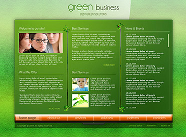 Green Business - Easy flash templates