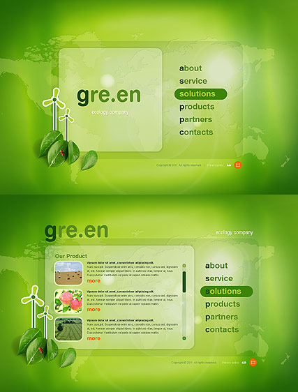 Green Energy - Easy flash templates