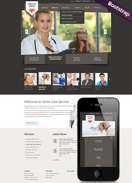 Home care service - HTML template