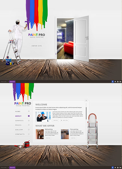 House Painter - HTML5 templates
