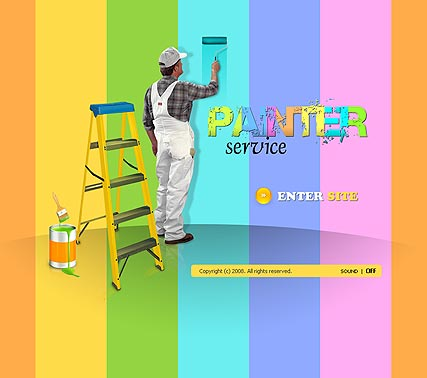 House painter - Flash template