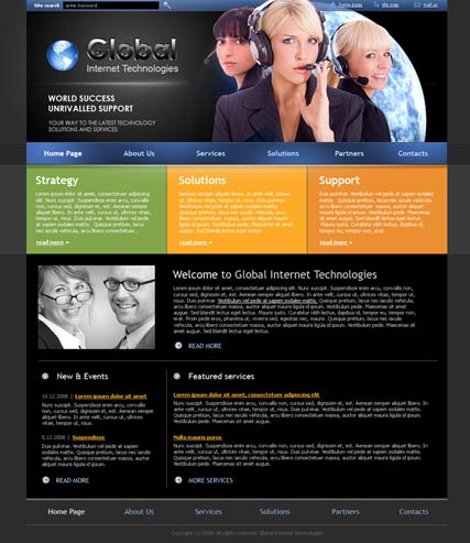 IT Company - HTML template