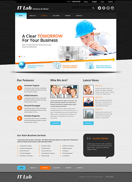 IT Laboratory - HTML template