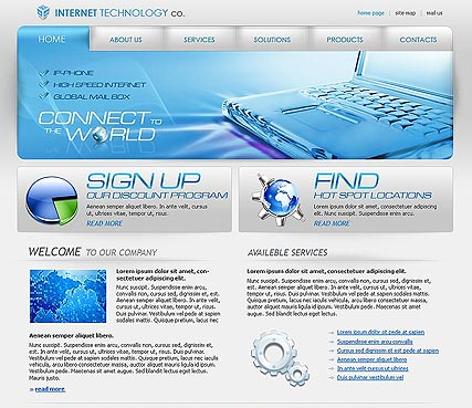 IT company - Website template