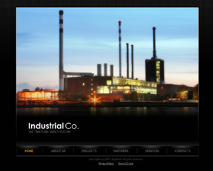 Industrial co. - Flash template