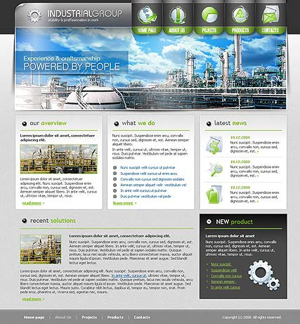 Industrial group - Website template
