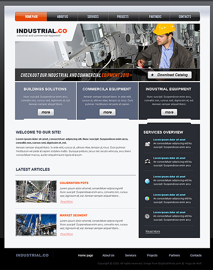 Industrial - Website template