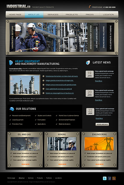 Industrial - HTML template