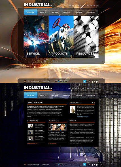 Industrial - HTML5 templates