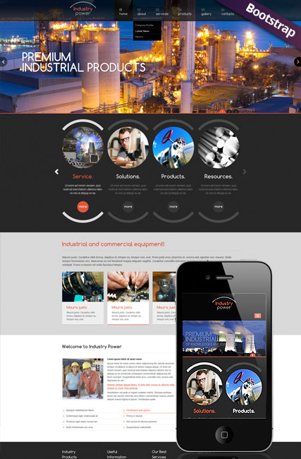 Industry Power - HTML template