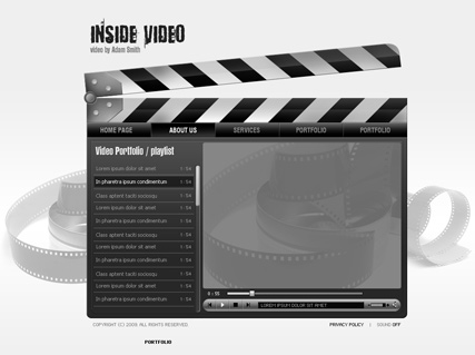 Inside Video - Easy flash templates