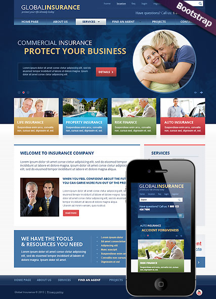 Insurance - HTML template