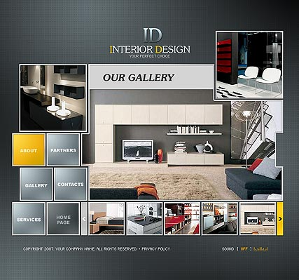 Interior Design - Website Templates