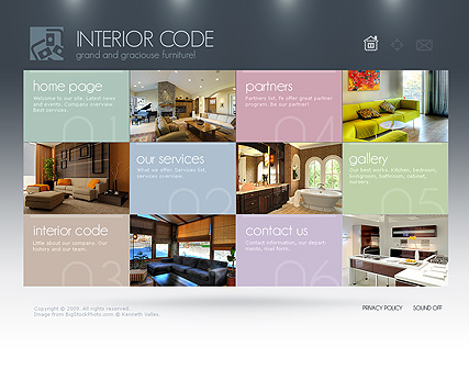 Interior Design - GalleryAdmin flash templates