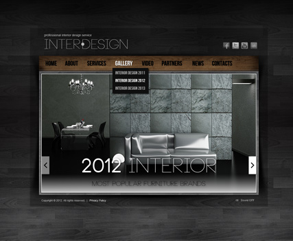 Interior Design - HTML5 Gallery Admin