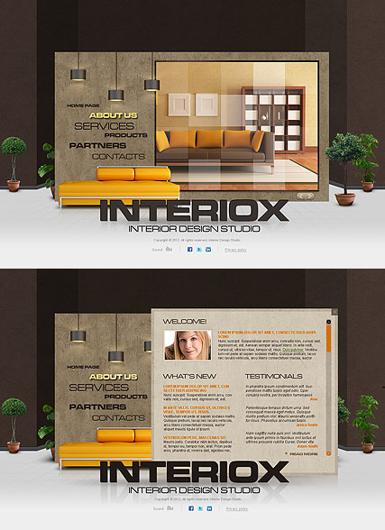 Interior Studio - HTML5 templates