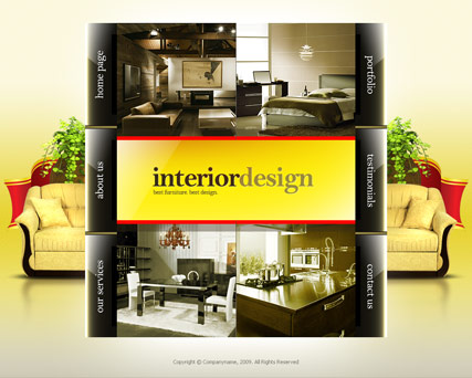 Interior design - Easy flash templates