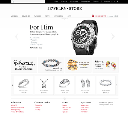 Jewelry Store - OpenCart templates