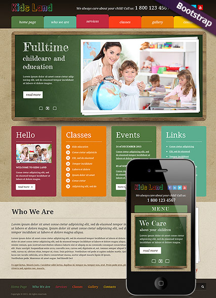 Kids Land - HTML template