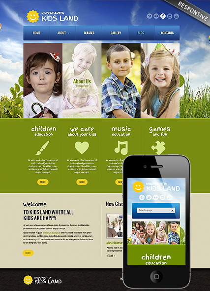 Kindergarten Land - Wordpress templates
