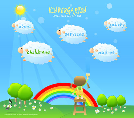 Kindergarten - Easy flash templates
