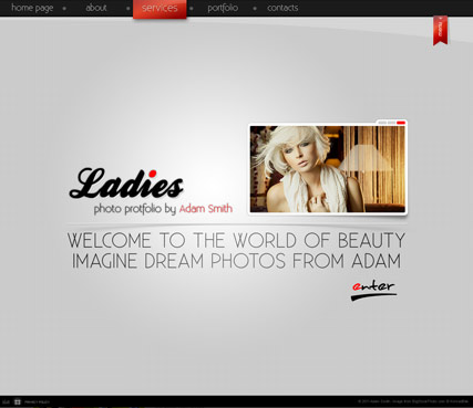 Ladies folio - GalleryAdmin flash templates
