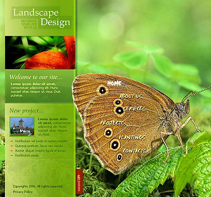 Landscape design - Flash template