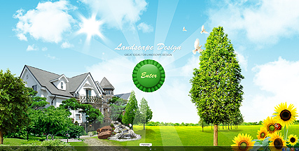 Landscape design - VideoAdmin flash templates