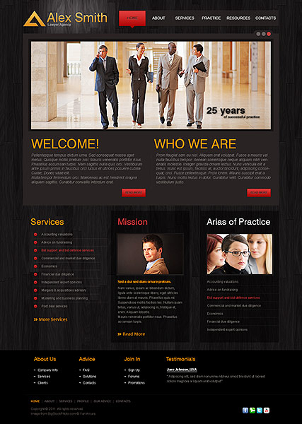 Lawyer Agency - HTML template