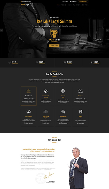 Lawyer - HTML template