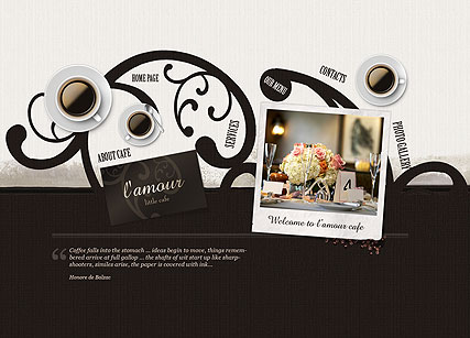 Little Cafe - Easy flash templates