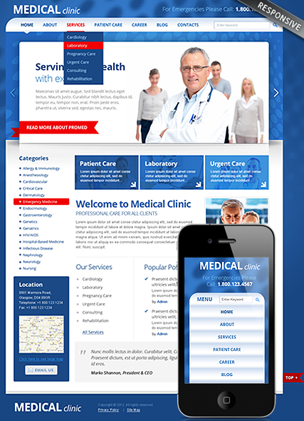 Medical Clinic - Wordpress templates