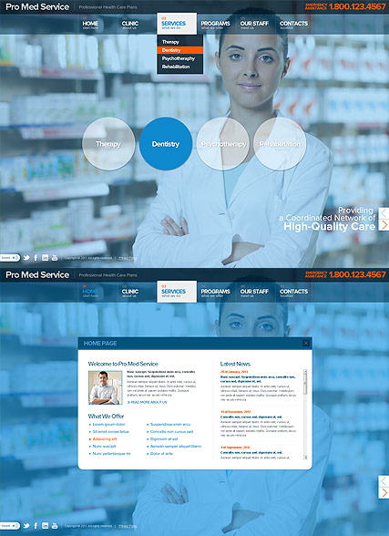 Medical Service - HTML5 templates
