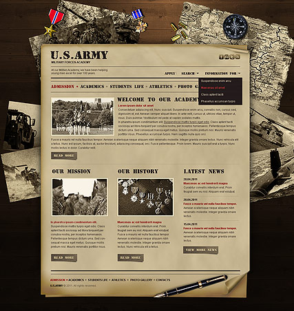 Military Academy - HTML template