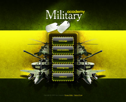 Military academy - Easy flash templates