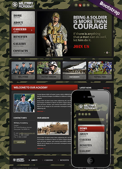 Military - HTML template